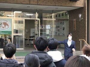 施設見学:教養教育科目「広島大学の歴史」の受講者の皆さんが、フィールドワークの一環で来訪されました。 (2021.5.19)